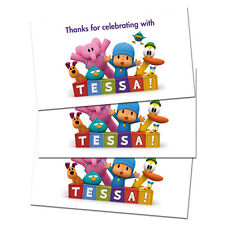10 Pocoyo Party Favor Birthday Personalized Thank You Tags
