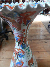 Antique Oriental Porcelain Vase Chinese Extra Large Floral Birds Paradise 76cm