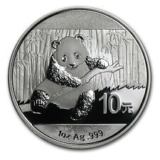 2014 China 1 oz Silver Panda BU (In Capsule) - SKU #79022