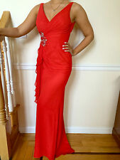 FAVIANA 7131 Long Red SIZE 8 Turquoise SIZE 2 8 Formal  Prom DRESS GOWN