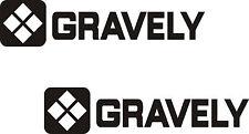 GRAVELY GARDEN TRACTOR  VINYL DECALS BLACK STICKERS