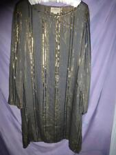 Vtg 70s 80s Adini dress tunic Hippie India Metallic threads fabric dolman sleeve