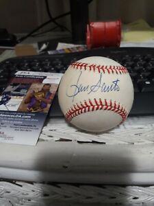 Chicago Cubs Ron Santo Signed National League Bill White Baseball JSA COA