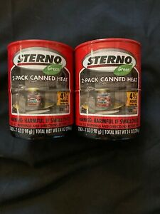 Lot Of 2/2 Packs - Sterno Cooking Fuel 2 Pack 7 Ounce Outdoor Essentials