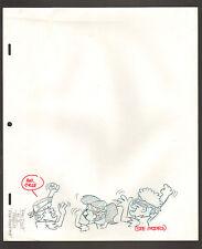 """Flintstones Animation Art - Fan Cycle Scene 3 """"Pebbles Rock Rockst 00006000 one"""