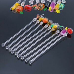 10Pcs/Set 9'' Acrylic Drink Stirrers for Juice Cocktail Swizzle Bars Sticks Gin