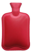RED HOT WATER BOTTLE FOOT WARMER NATURAL RUBBER WINTER HOTWATER BAG 2L