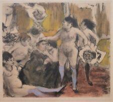 Brothel Print Edgar Degas Pinxit, Potin Sculpt, French Impressionist Nude Women
