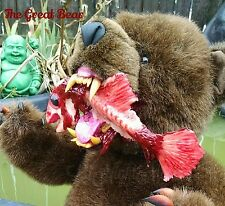 Ooak LNMs Teddy Bear Horror dead fish zombie prop Gothic monster