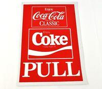 Coca Cola Coke 21 x 14 cm Pull Aufkleber USA Sticker Decal - Classic Logo