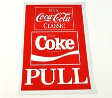 Coca Cola Coke 21 x 14 cm Pull autocollants USA Autocollant Decal - Classic Logo