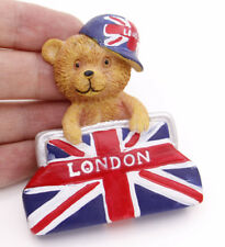 "1 Pcs 3D Fridge Magnet ""United Kingdom Flag Bear"" Souvenir Gift Brand New"
