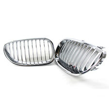 Chrome Silver Grilles Grill For BMW E60 E61 M5 5 Series 03-09 2007 2006 Car H00A