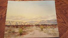 original Anton Greiner water color painting Palm Springs California Signed art