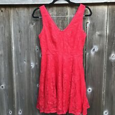 167d93b453f43 Express Red Lace Dress - NWT - Size 4 - Sleeveless - A-Line -
