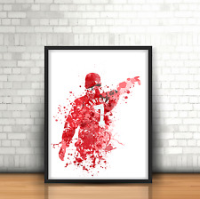 Eric Cantona - Manchester United Inspired Football Art Print Design Red Devils