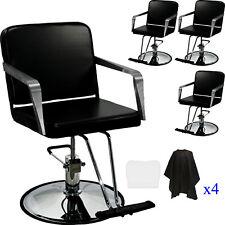4x Professional Black Hydraulic Styling Barber Salon Chair Spa Beauty Equipment