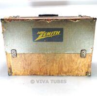 Large, Grey Speckled, Zenith, Vintage Radio TV Vacuum Tube Valve Caddy Case
