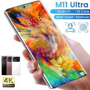 2021 M11 Ultra 7.3 Inch 16GB+1T 5G Fingerprint ID 6800mAh Smart Phone 48+64MP