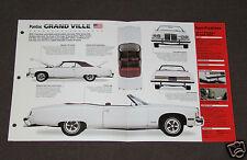 1971-1974 PONTIAC GRAND VILLE Car SPEC SHEET BROCHURE PHOTO BOOKLET