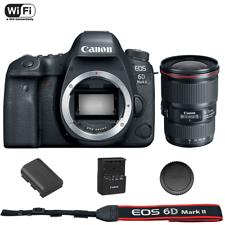 Canon EOS 6D Mark II DSLR Cuerpo de Cámara con EF 16-35 mm f/4L IS USM Lente