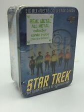 STAR TREK METAL CARD SET 6 TIN ORIGINAL SERIES 30TH ANNIVERSARY CREW ENTERPRISE