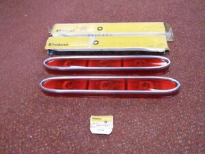 NOS PONTIAC 1959 BONNEVILLE TAIL LAMP LENSES PAIR