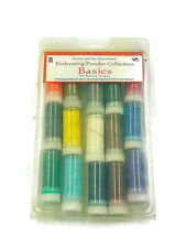 Embossing Powder Art Value Pack Paper Craft 15 Tubes Vial Non Toxic