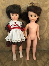2 Mary Hoyer Becky Plastic Dolls 1960's