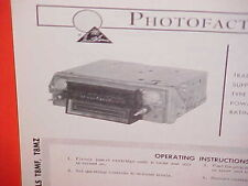 1968 FORD MUSTANG GT GALAXIE 500 CONVERTIBLE LTD 8-TRACK/AM RADIO SERVICE MANUAL