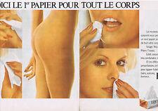 PUBLICITE ADVERTISING 094 1975 EDET le 1er papier pour tout le corps  (2 pages)