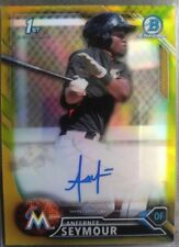 Anfernee Seymour RC /50 AUTO Gold Refractor 2016 Bowman Chrome