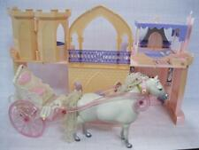1999 Barbie Kelly Kingdom PRINCESS PALACE Castle/Horse Carriage Playset Mattel