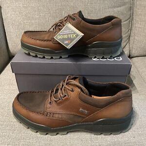 ecco Men's Track II Low GORE-TEX waterproof outdoor hiking shoe, Bison/Bison, 45