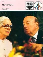 FICHE CARD Marcel Carné réalisateur 1906-1996 Arletty à Courbevoie France 90s