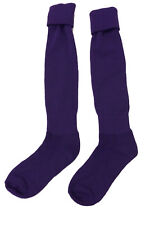 Classic Adult Soccer Sock ,Solid Color Purple,Size: AL    (E71 - FD)