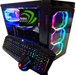 i7 Custom Gaming Desktop PC GeForce GTX 1660 RTX 2060 SSD+HDD 16GB Win10 WiFi 5G