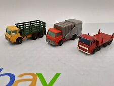 Vintage MATCHBOX TRUCK lot FORD REFUSE, STAKE TRUCK, PIPE TRUCK