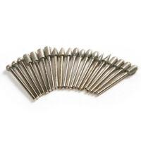 20Pcs 3mm Diamond Burr Bit Drill For Engraving Carving Dremel Rotary Tool Set