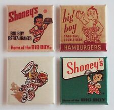Big Boy Restaurant FRIDGE MAGNET Set (1.5 x 1.5 inches each) shoney's sign bob's