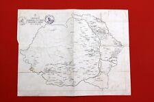 1925 ROMANIA MAP CAROL II STAMPS BESSARABIA WALLACHIA CULTURAL CENTERS VILLAGES