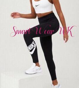 Nike Women's Leggings High-waisted Tight Fit Full Length Leggings Black  RRP £45