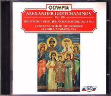 Gretchaninov Liturgy of st. John Chrysostom Olympia CD Ludmila arshavskaya