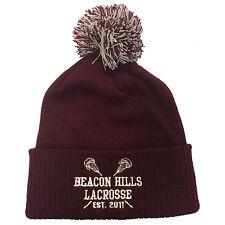 Beacon Hills Lacrosse Embroidered Bobble Beanie Teen Wolf Stilinski Fashion Hat