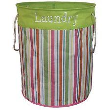 Large Round Strong Collapsible Folding Laundry Bag Bin Hamper Organiser Basket