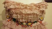 MANOUSH Robe Cinderella bustier robe rose perles taille UK 6 France 34 RRP £ 350