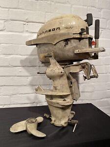 Oldtimer USA Bootsmotor Johnson Modell 3 JHF 21E Benzin Außenbordmotor um 1960