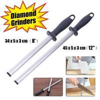 8/12inch Best Diamond Knife Sharpener Sharpening Stainless Steel Stick Oval Tool