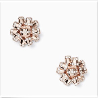 KATE SPADE EARRINGS! Pave Bourgeois Studs in ROSE GOLD! NWT/Dustbag :)