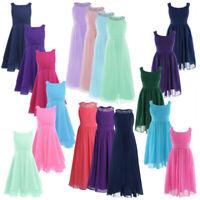 Chiffon Flower Girl Dress Kids Formal Pageant Wedding Bridesmaid Prom Gown Dress